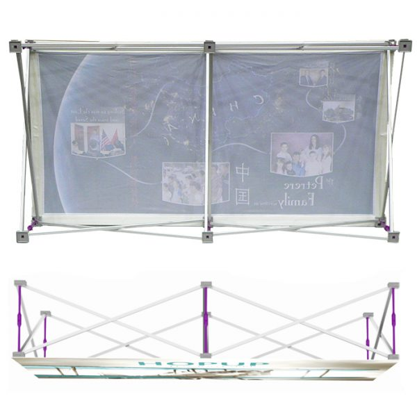 Quick fabric pop up banners