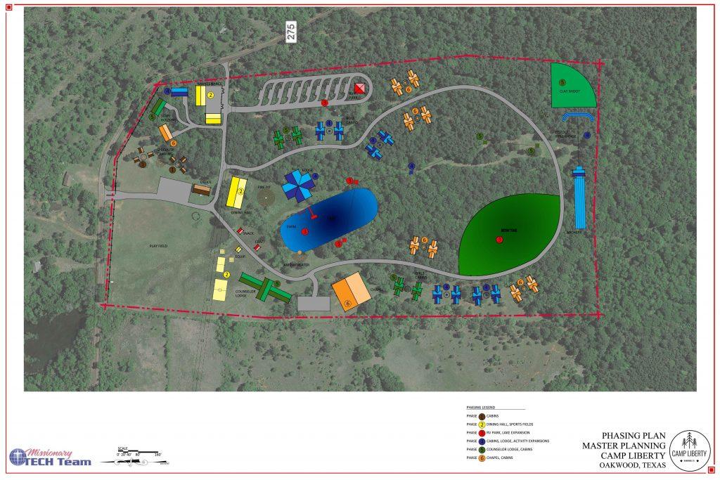 Camp Liberty lake park master plan
