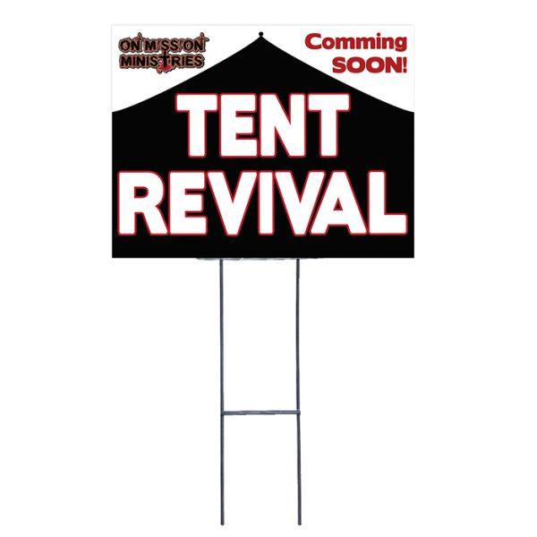 Custom Tent Revival Yard Signage
